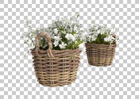 花卉剪贴画背景,草药,礼品篮,储物篮,柳条,人造花,吊篮,墙,房间,