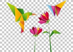 花线艺术,洋红色,线路,美术纸,折纸,花瓣,叶,花,植物,奥祖鲁,折纸