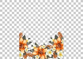 鲜花婚礼请柬水彩,花卉,大丽花,橙色,植物群,插花,切花,向日葵,水