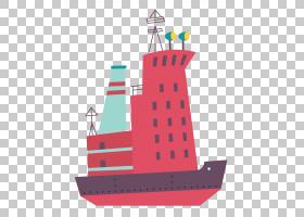 可爱的手绘插画风交通工具主题免扣素材