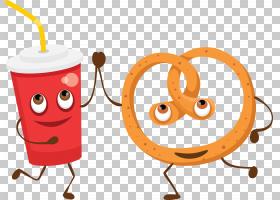 可乐Q版食物类卡通形象免扣素材图片
