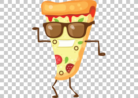 披萨Q版食物类卡通形象免扣素材图片
