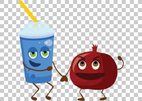 饮料石榴Q版食物类卡通形象免扣素材图片