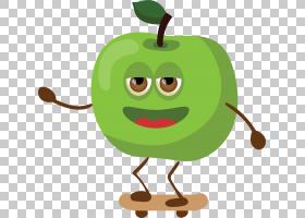 青苹果Q版食物类卡通形象免扣素材图片