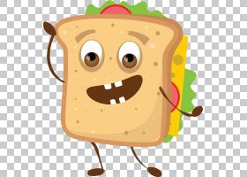 三明治Q版食物类卡通形象免扣素材图片