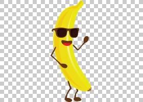香蕉Q版食物类卡通形象免扣素材图片