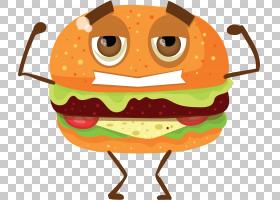汉堡包Q版食物类卡通形象免扣素材图片
