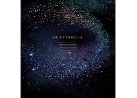 金粉光影光晕黑色背景主题大气海报设计