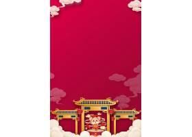 中国风中国红喜庆海报背景素材