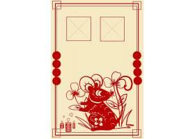 鼠年中国风海报背景