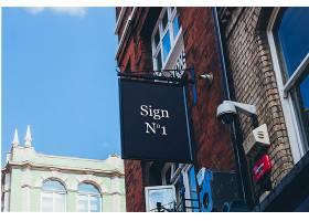 欧式小镇街道店铺招牌展示样机模板