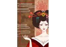日本女性插画