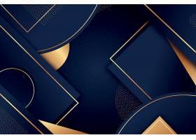 渐变深色的几何图形线条组合装饰背景