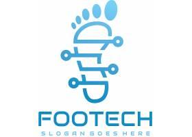 创意脚印图标商标LOGO