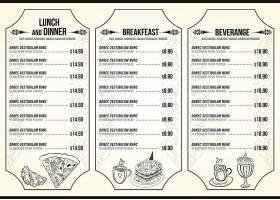 特色西餐主题餐饮餐牌菜单模板设计