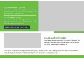 商务公司通用英文版明信片封面设计