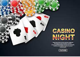 筹码与扑克牌背景