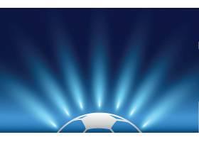 足球光影主题体育运动项目矢量插画