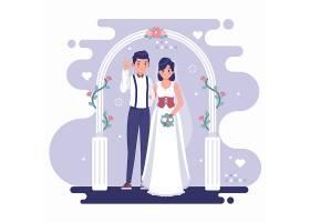 幸福夫妻艺术风格插画