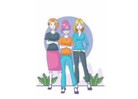 三个卡通美女