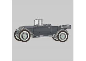 高级复古的车辆形象装饰插画设计