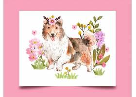 清新水彩可爱动物装饰插画素材