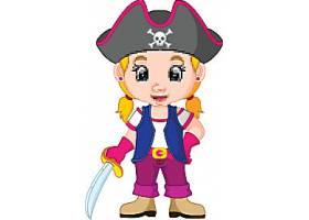 海盗的卡通人物