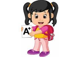 背书包的小女孩