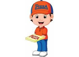 送披萨的卡通人物