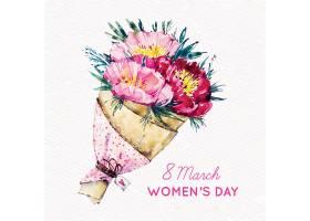 妇女节海报鲜花背景