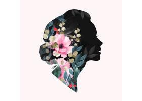 三八妇女节剪影海报