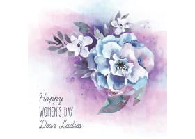 妇女节水彩花背景