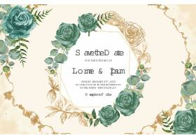 Wedding_floral_watercolor_decorative_invitations_2119图片