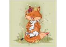 卡通狐狸形象装饰插画