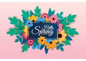 春天花朵背景