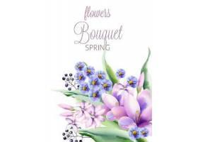 清新植物花卉春天主题装饰背景