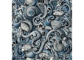 海洋生物矢量图案