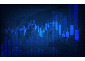 金融走势数据矢量图