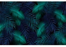 热带绿叶装饰图案