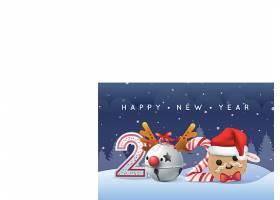 圣诞节新年快乐海报背景素材