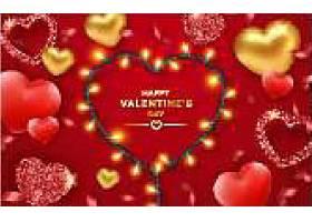 红色爱情主题浪漫情人节装饰背景