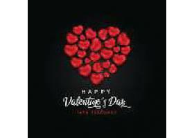 花瓣铺满爱心情人节标签主题浪漫情人节装饰背景
