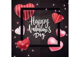黑色灯饰情人节标签主题浪漫情人节装饰背景