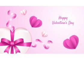 粉色爱心情人节标签主题浪漫情人节装饰背景