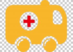 救护车卡通,矩形,线路,橙色,黄色,符号,面积,黄色救护车,免费,医
