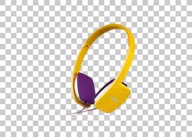 耳机卡通,音频设备,技术,圆,黄色,紫色,字体,移动电话,头戴式耳机
