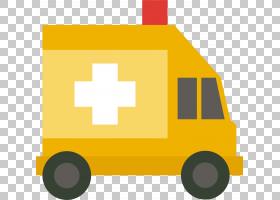 救护车卡通,线路,车辆,面积,正方形,营救,黄色,急救,计算机图形学