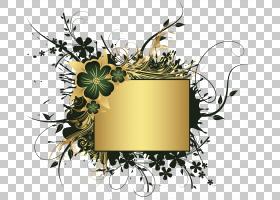 花卉背景,花卉设计,花,黄色,植物群,植物,动画,