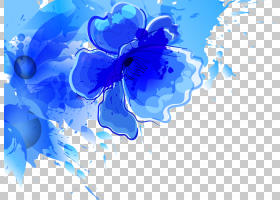 水彩抽象背景,天蓝色,钴蓝,天空,花瓣,电蓝,蓝色,抽象艺术,花,绘