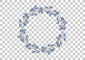 蓝花,圆,线路,分支,叶,蓝色,花,